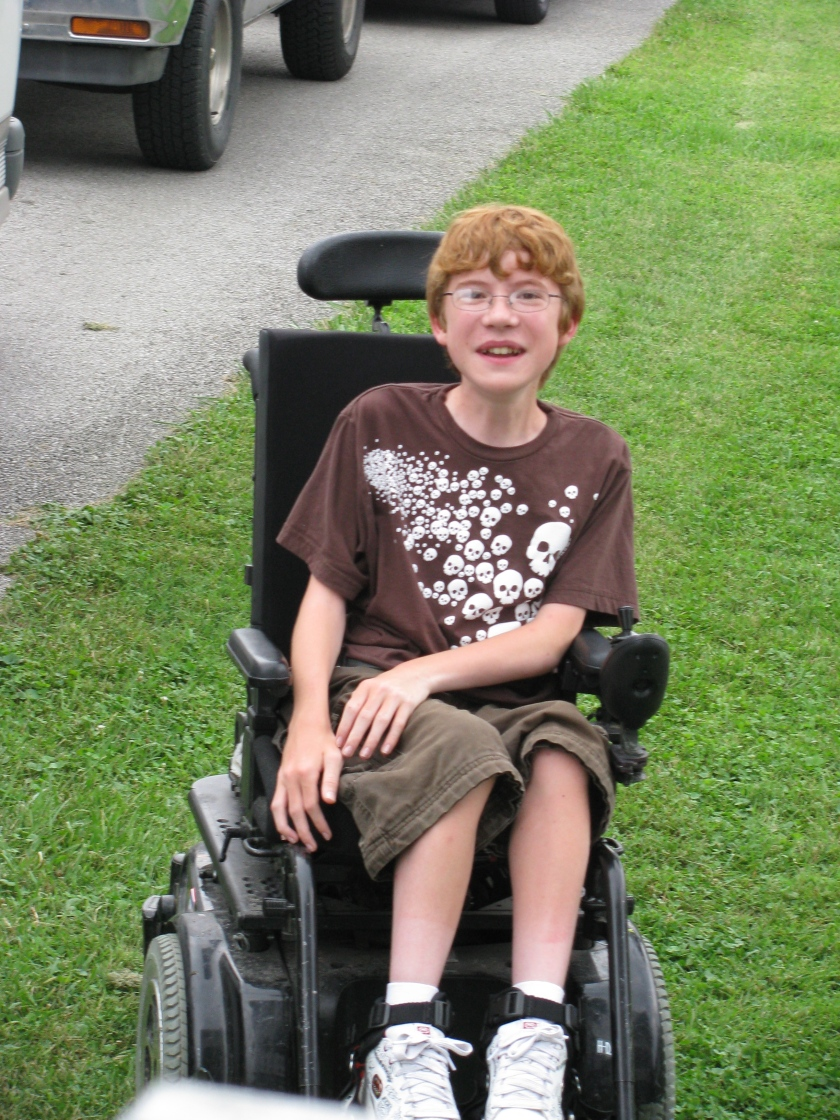 Drew before his spinal fusion surgery at Shriners