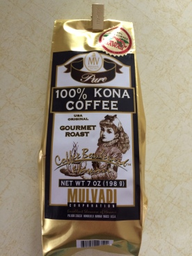 A man my husband went to high school with sent us kona coffee from Hawaii.
