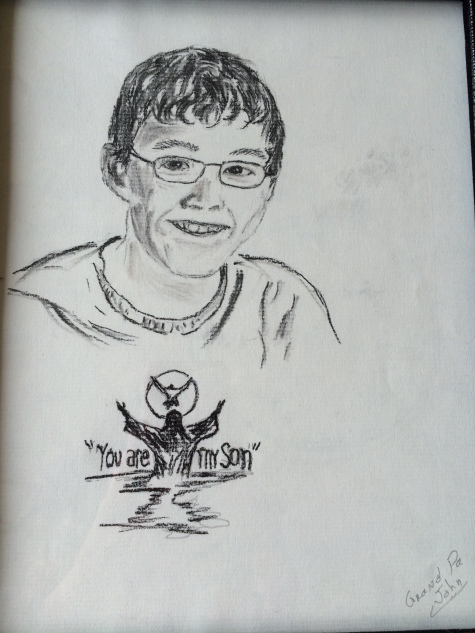 My dad drew this photo of Christian